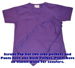Purple Kids Nurse Scrubs